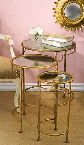Remarkable Favorite Gold Bamboo Coffee Tables Inside Gold Nesting Tables Foter (View 22 of 50)