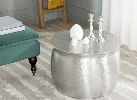 Remarkable Favorite Hammered Silver Coffee Tables Pertaining To Silver Round Coffee Table Jerichomafjarproject (Image 39 of 50)