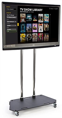 Remarkable Favorite Lockable TV Stands Regarding 6 Tall Mobile Tv Stand Locking Casters 37 60 Screens (Image 40 of 50)