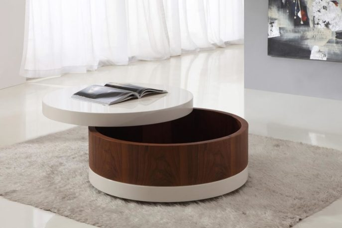 Remarkable Favorite Round Coffee Table Storages Intended For Coffee Table Modern Round Storage Coffee Table Design Timber (Image 38 of 50)