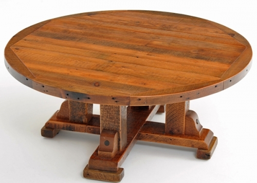 Remarkable Favorite Round Pine Coffee Tables Throughout Living Room Top Round Rustic Coffee Tables Youtube For Table Plan (View 17 of 50)