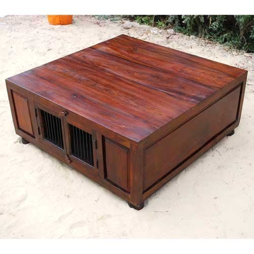 Remarkable Favorite Square Coffee Tables With Storage Regarding Living Room Top Storage Square Coffee Table Custom Large With (View 45 of 50)