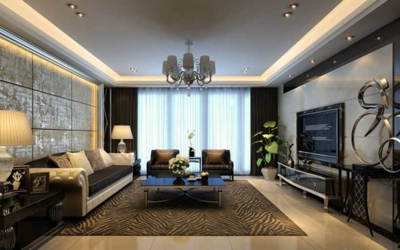 Remarkable Favorite Square Shaped Coffee Tables With Living Room Remarkable Modern Living Room Black Leather Sofa (Image 41 of 50)