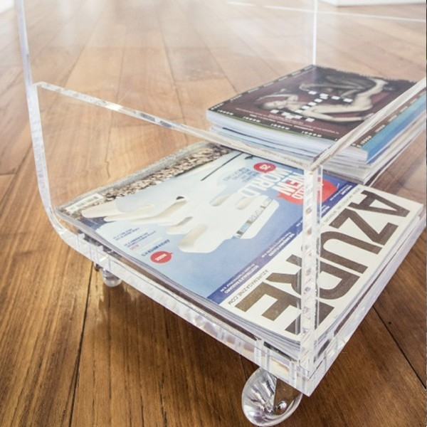 Remarkable High Quality Acrylic Coffee Tables With Magazine Rack For Perspex Clear Acrylic Coffee Table With Magazine Rack (View 2 of 40)