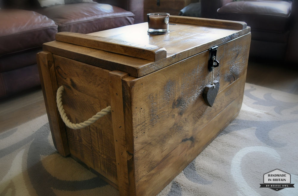 Remarkable High Quality Blanket Box Coffee Tables Within The Multi Functional Rustic Ottoman Coffee Table Coffe Table Gallery (Image 43 of 50)