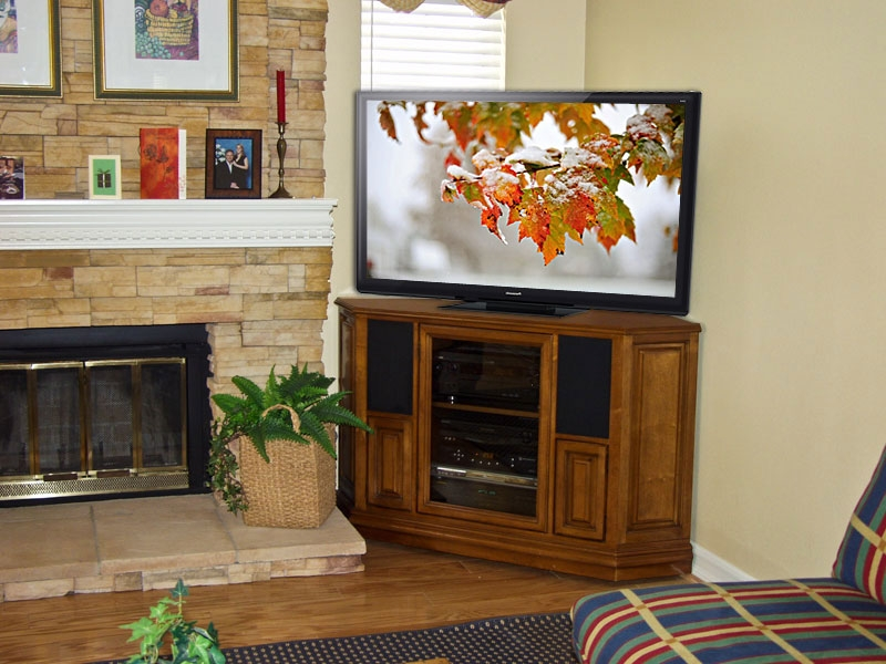 Remarkable High Quality Corner TV Stands For Flat Screen With Regard To Tv Stands Modern Glass Corner Tv Stands For Flat Screen Tvs Ideas (View 3 of 50)