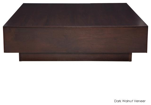 Remarkable High Quality Dark Mango Coffee Tables Throughout Low Square Dark Wood Coffee Table View Here Coffee Tables Ideas (Image 30 of 40)