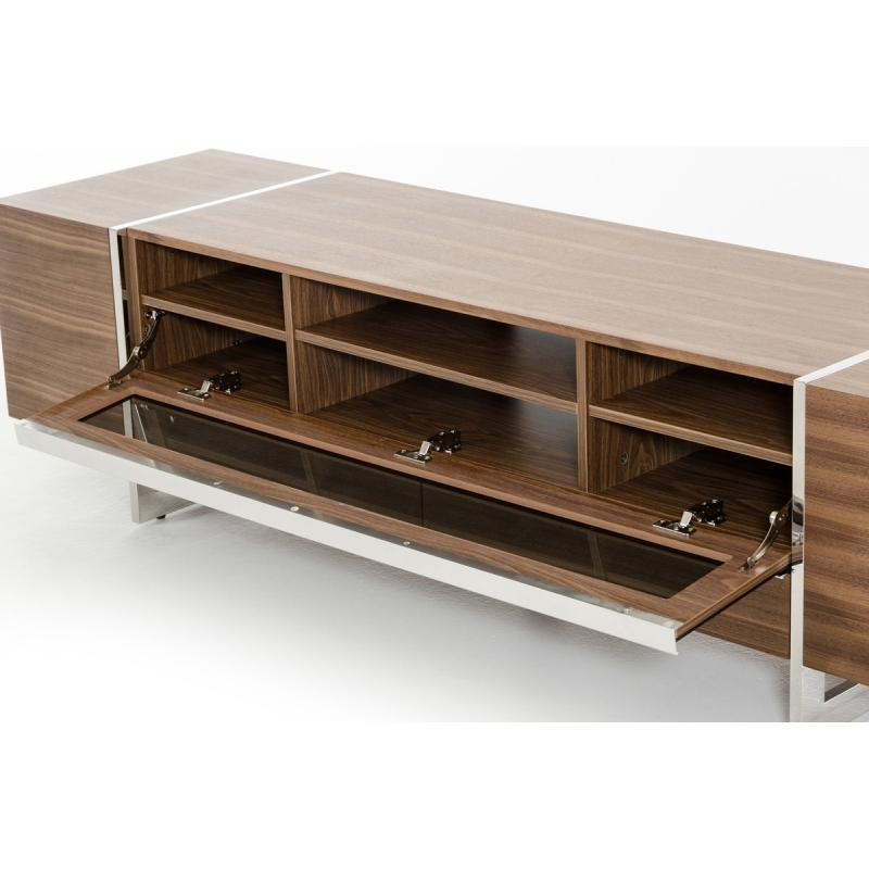 Remarkable High Quality Modern Walnut TV Stands Throughout Buy The Modrest Lorena Modern Walnut Tv Stand Vig Furniture (View 14 of 50)