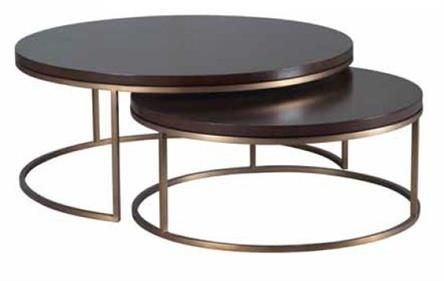 Remarkable High Quality Nest Coffee Tables With Regard To Elle Round Nest Coffee Table Marble Top With Brass Frame  (Image 34 of 50)