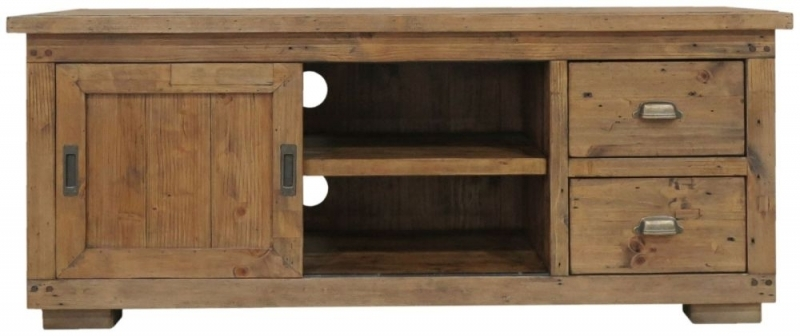Remarkable High Quality Pine TV Cabinets With Buy Camrose Reclaimed Pine Tv Cabinet Small Online Cfs Uk (Image 37 of 50)