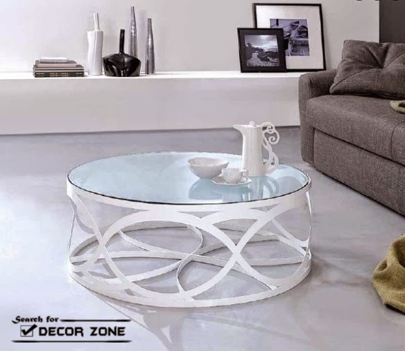 Remarkable High Quality Round Steel Coffee Tables Throughout Incredible Round Glass And Metal Coffee Table Best Ideas About (Image 39 of 50)