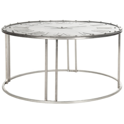Remarkable High Quality Safavieh Coffee Tables For Safavieh Fox Roman Clock Coffee Table Reviews Wayfair (View 43 of 50)