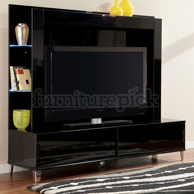 Remarkable High Quality TV Stands With Back Panel Regarding Howick Extra Large Tv Stand W Back Panel Signature Design (Image 43 of 50)