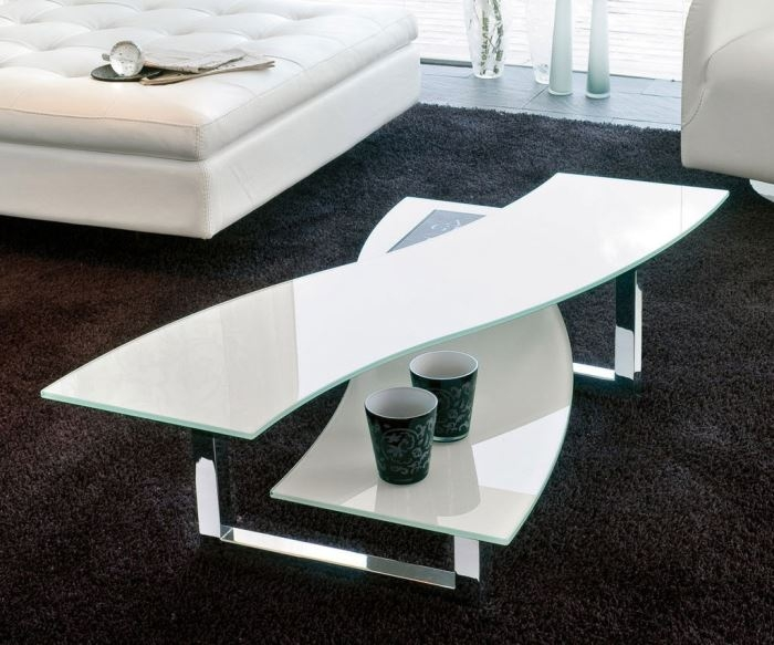 Remarkable High Quality White And Chrome Coffee Tables Pertaining To Modern White Coffee Table (Image 41 of 50)