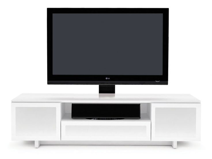 Remarkable High Quality White TV Stands For Flat Screens Pertaining To Best 25 Slim Tv Stand Ideas On Pinterest 60s Furniture Natural (Image 43 of 50)
