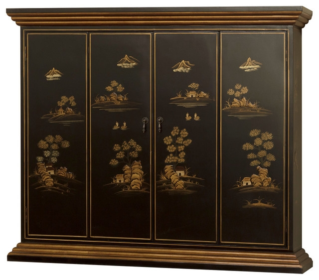 Remarkable Latest Asian TV Cabinets With Chinoiserie Scenery Motif Wall Tv Cabinet Asian Entertainment (View 13 of 50)