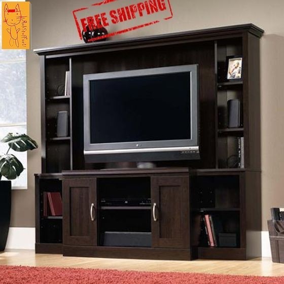Remarkable Latest Cherry Wood TV Stands With Cherry Entertainment Center Tv Stand Wood Storage Media Cabinet (Image 42 of 50)