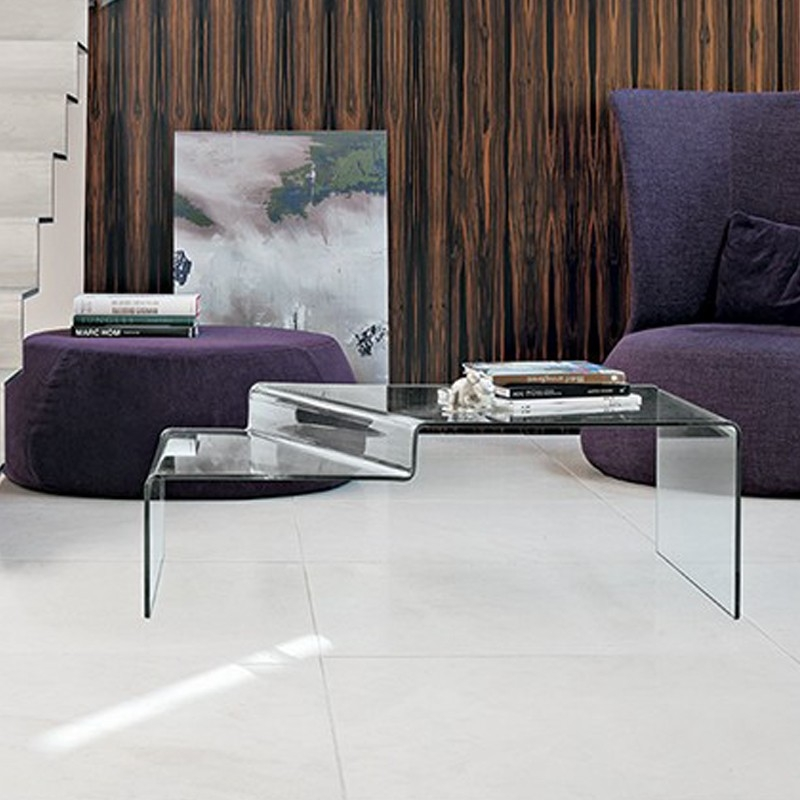 Remarkable Latest Curved Glass Coffee Tables Pertaining To Curved Glass Coffee Table Neon Target Point Coffee Tables (Image 38 of 50)