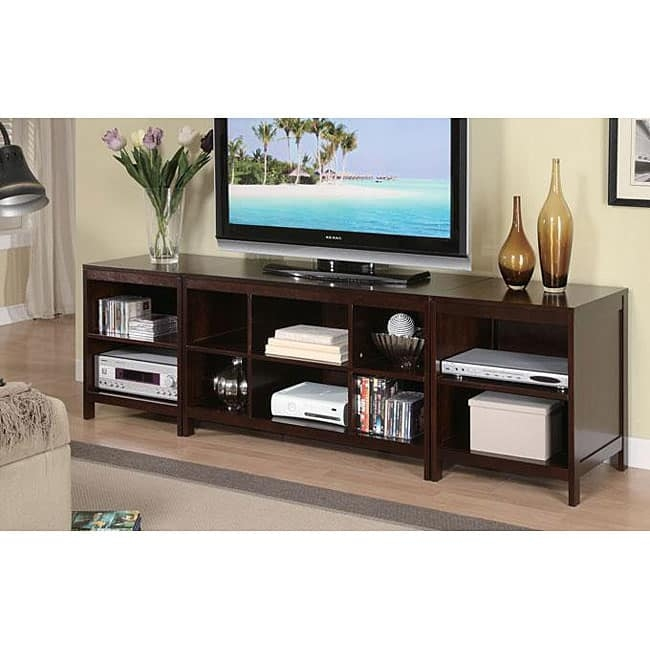 Remarkable Latest Expresso TV Stands Inside Espresso Wood Lcd Tv Stand Console Free Shipping Today (Image 42 of 50)