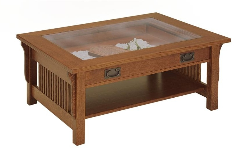 Remarkable Latest Glass Top Display Coffee Tables With Drawers In Glass Top Display Coffee Table With Drawers (Image 40 of 50)