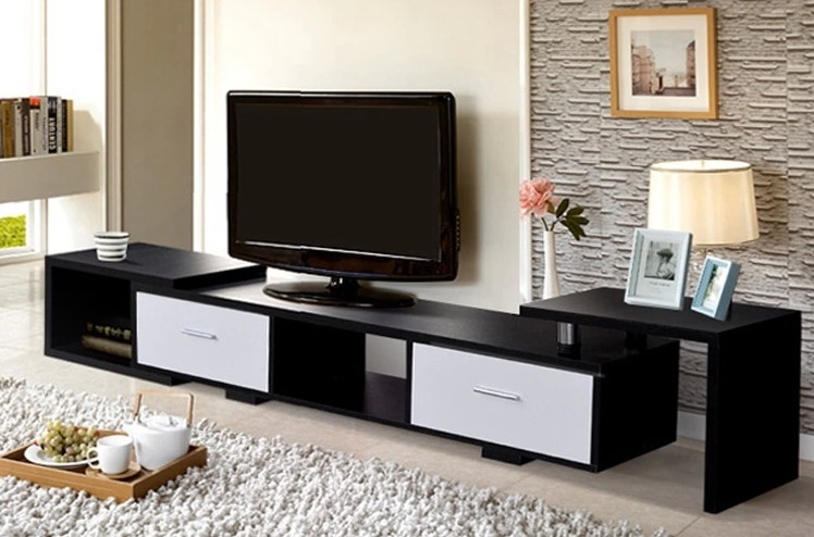 Remarkable Latest Long Black TV Stands For Tv Stands Wonderful Tv Stands For 60 Inch Tv Ikea 2017 Gallery Tv (View 28 of 50)