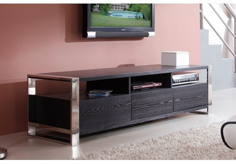 Remarkable Latest Modern Black TV Stands For B Modern Stylist 63 Black Ash Tv Stand Bm 110 Blk (View 15 of 50)