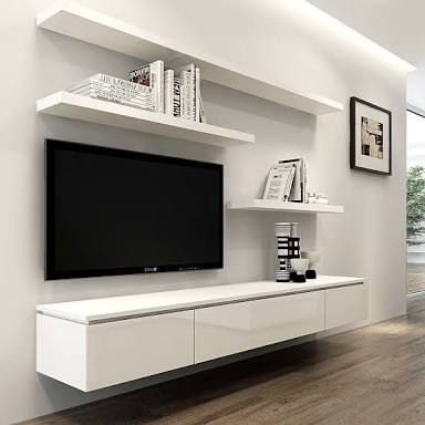 Remarkable Latest Modern Wall Mount TV Stands With Top 25 Best Wall Mounted Tv Ideas On Pinterest Mounted Tv Decor (Image 41 of 50)