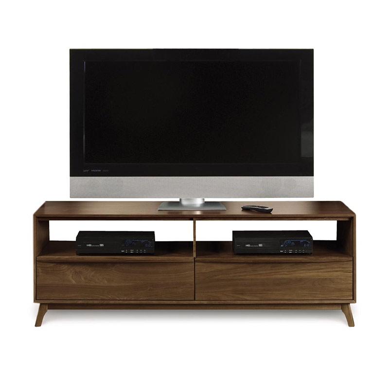 Remarkable Latest Modern Walnut TV Stands Inside Modern Catalina Walnut Tv Stand Console American Made Mid (Image 40 of 50)