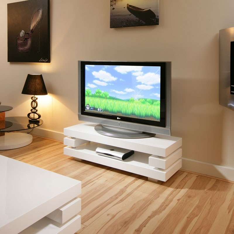 Remarkable Latest Modern White Gloss TV Stands Pertaining To White Small Tv Stand Universalcouncil (Image 37 of 50)