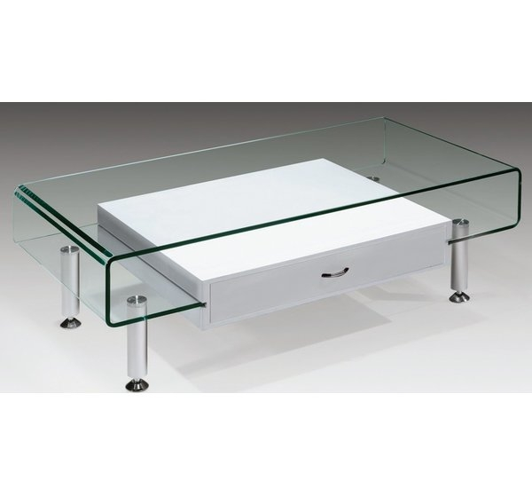 Remarkable Latest Rectangle Glass Coffee Table With Creative Images International Glass Coffee Table Reviews Wayfair (View 43 of 50)