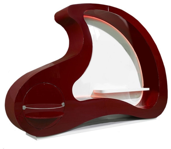 Remarkable Latest Red Gloss TV Stands Regarding Cloud Premium Wall Unit In Modern Style Contemporary (View 8 of 50)