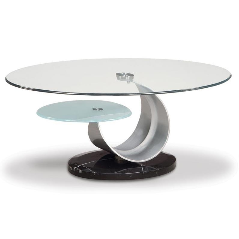 Remarkable Latest Retro Glitz Glass Coffee Tables Within Modern Circular Coffee Table Ion Glass Round Coffee Table (View 49 of 50)