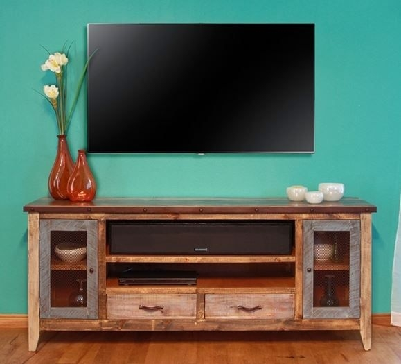Remarkable Latest Rustic Furniture TV Stands Regarding Cottage Tv Cabinet Coastal Entertainment Center Rustic (Image 36 of 50)