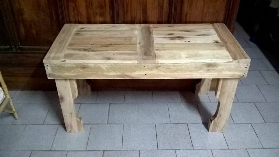 Remarkable Latest Rustic Wood DIY Coffee Tables Pertaining To Rustic Wood Pallet Coffee Table Pallet Furniture Diy (Image 42 of 50)