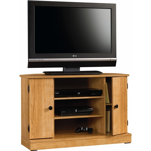 Remarkable Latest Slimline TV Cabinets For Jaxx Blackgrey Corner Tv Stand For Tvs Up To 40 Walmart (View 48 of 50)