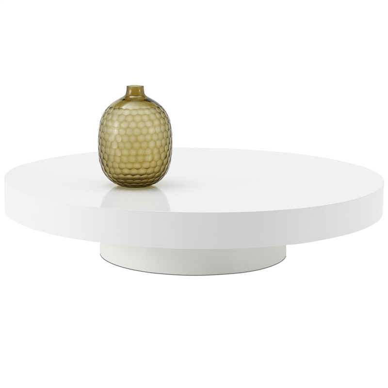 Remarkable Latest White Circle Coffee Tables With Regard To White Round Coffee Table (Image 41 of 50)