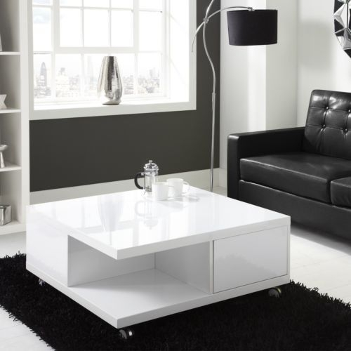 Remarkable Latest White Coffee Tables With Storage Regarding Best 25 White Gloss Coffee Table Ideas On Pinterest Table Tops (View 31 of 50)