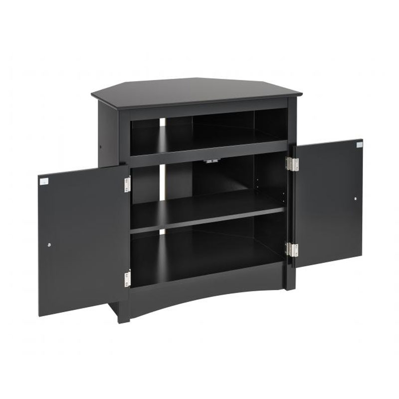 Remarkable New 32 Inch Corner TV Stands Within Prepac Sonoma Collection Tall Corner Tv Cabinet For Screens Up To (Image 38 of 50)