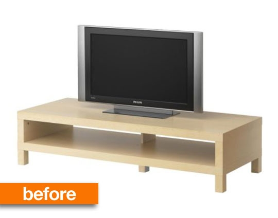 Remarkable New Birch TV Stands Regarding Before Amp After Ikea Lack Space Age Tv Stand Apartment Therapy (Image 40 of 50)