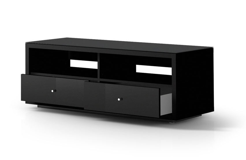 Remarkable New Black TV Cabinets Pertaining To Spectral Just Racks Jra121 Gloss Black Tv Cabinet Black Tv (Image 43 of 50)