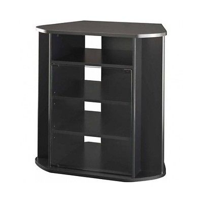 Remarkable New Black TV Cabinets With Doors With Regard To Corner Entertainment Unit Tall Black Tv Stand Storage Console (Image 42 of 50)