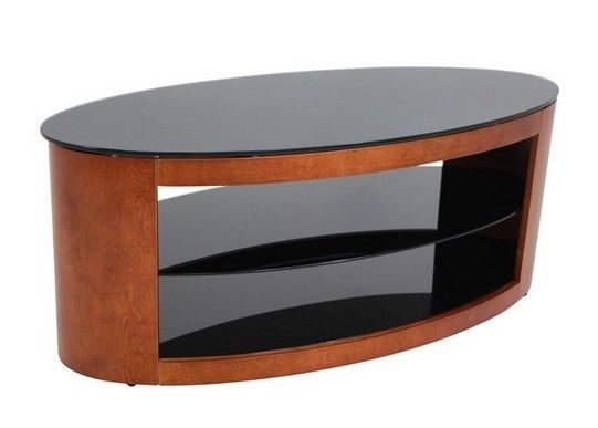 Remarkable New Contemporary Wood TV Stands Pertaining To Oval Coffee Table Modern Wood Glass Shelves Tv Stand Cocktail Sofa (Photo 9 of 50)