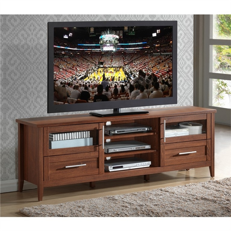 Remarkable New Corner TV Stands For 55 Inch TV Intended For Dark Brown Tv Stand (Image 44 of 50)