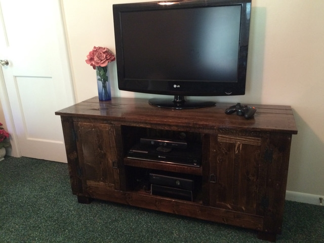 Remarkable New Dark Walnut TV Stands Regarding Dark Walnut Tv Media Center (Image 41 of 50)
