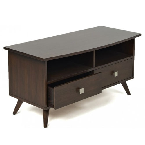 Remarkable New Dark Wood TV Stands Inside Dark Wood Contemporary Tv Stand With Wire Access (View 17 of 50)