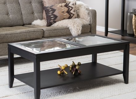 Remarkable New Glass Square Coffee Tables Throughout Square Wood Coffee Table With Drawers And Glass Top Jericho (View 46 of 50)