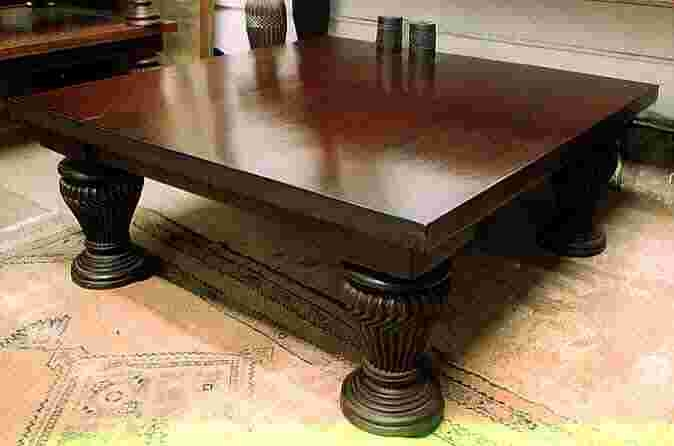 Remarkable New Mahogany Coffee Tables With Regard To Solid Mahogany Coffee Table Brown Varnish Surface Finish High (Image 38 of 50)