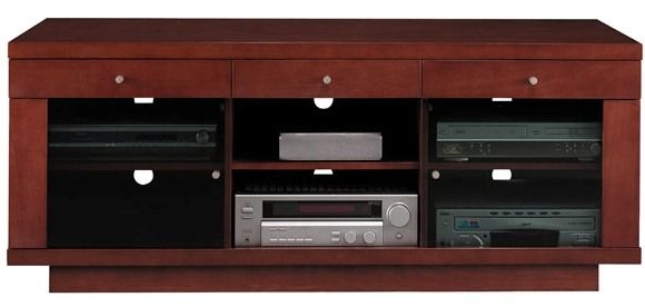 Remarkable New Maple TV Stands Pertaining To Bush Vs13588 03 Cognac Maple Finish Edgewood Collection Flat Panel (View 25 of 50)