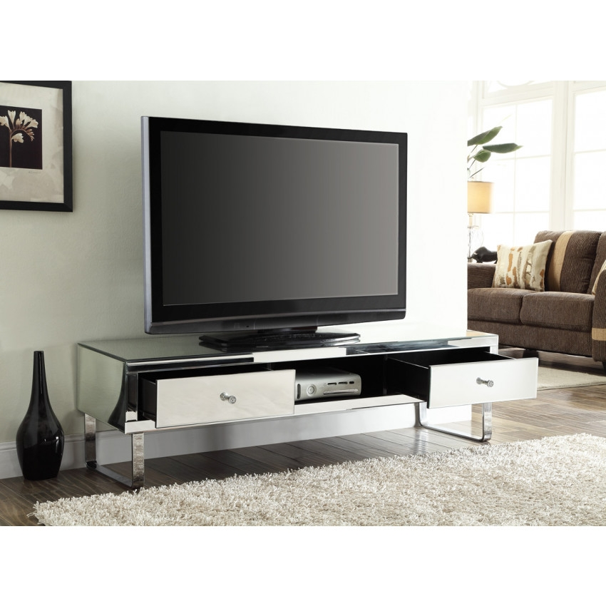 Remarkable New Mirrored TV Stands Throughout Tv Stands Amusing Design Mirror Tv Stand Collection Black (View 14 of 50)