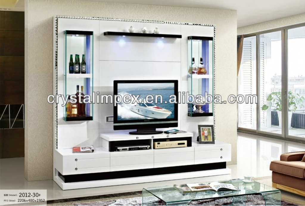 Remarkable New Modern Design TV Cabinets With Regard To Tv Unit Designs In The Living Room Beautiful White Black Wood (Image 35 of 50)